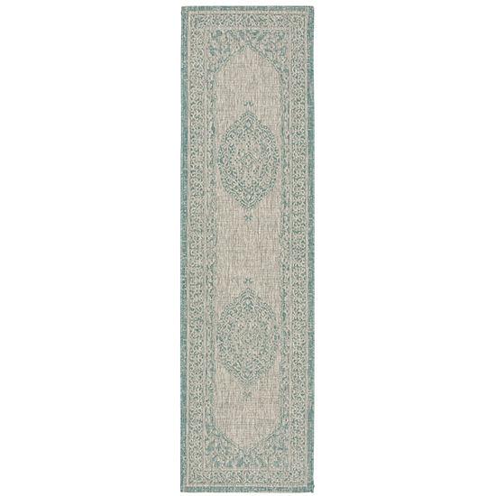 Safavieh Courtyard Collection Adria Oriental Indoor/Outdoor Runner Rug