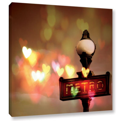 Night Life Paris Gallery Wrapped Canvas