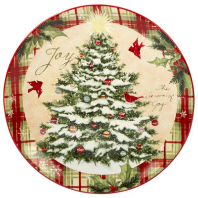 Certified International Holiday Wishes Serving Platter