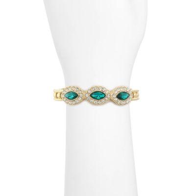Monet Womens Green Jewelry Set