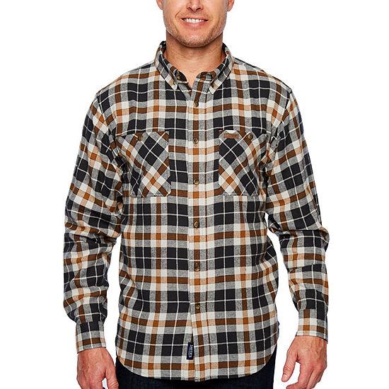 Smith Workwear Mens Long Sleeve Flannel Shirt
