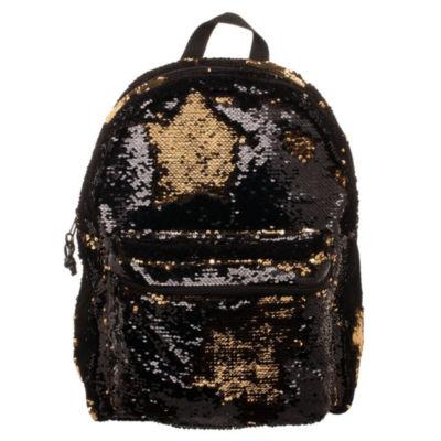 Black & Gold  Reverse Sequins Backpack