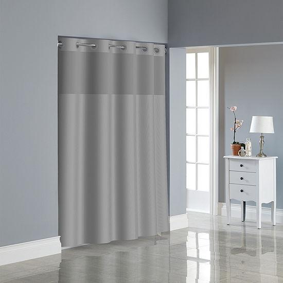 Hookless Dobby Textured Shower Curtain Set