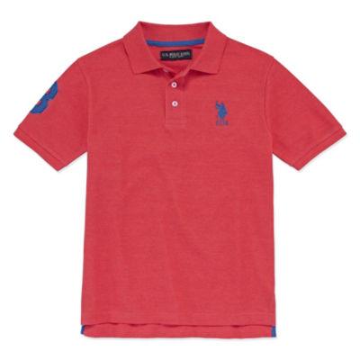 U.S. Polo Assn. Embroidered Short Sleeve Pique Polo - Big Kid Boys