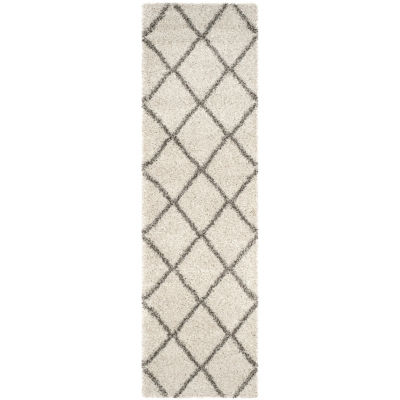 Safavieh Hudson Shag Collection Salome Geometric Runner Rug
