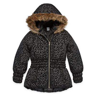 Arizona Heavyweight Pattern Puffer Jacket - Girls 4-16 & Plus