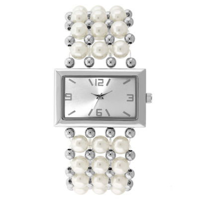 Mixit Womens Silver Tone Bangle Watch-18608