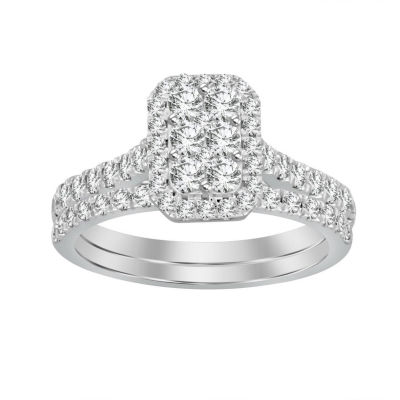 Womens 1 1/4 CT. T.W. White Diamond 14K White Gold Bridal Set