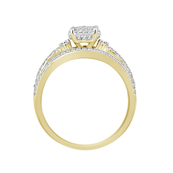 Womens 3/8 CT. T.W. White Diamond 10K Gold Bridal Set