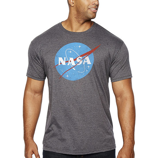NASA Mens Crew Neck Short Sleeve Graphic T-Shirt-Big and Tall