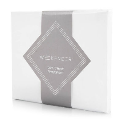 Weekender 200 Thread Count Hotel Fitted Sheet