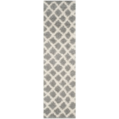 Safavieh Dallas Shag Collection Cara Geometric Runner Rug