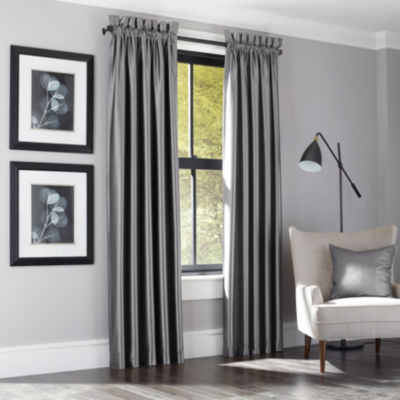 Queen Street Saratoga Rod-Pocket Curtain Panel 2-Pack
