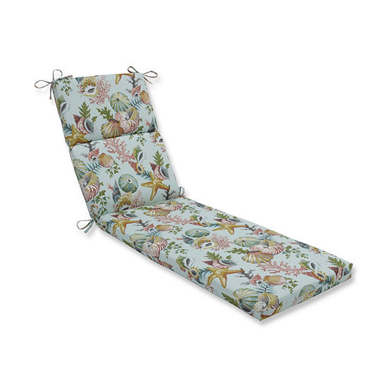 Pillow Perfect Grantoli Seamist Patio Chaise Lounge Cushion