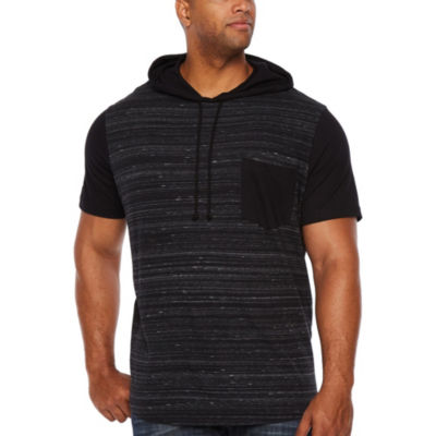 The Foundry Big & Tall Supply Co. Short Sleeve Jersey Hoodie-Big and Tall