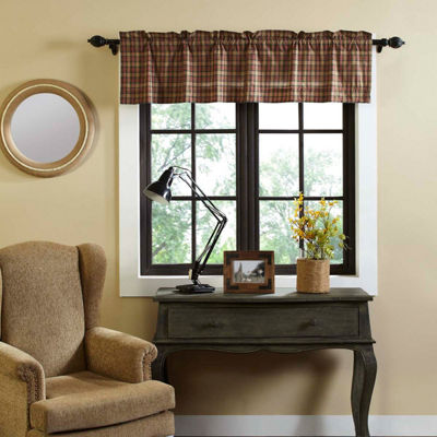 Primitive Window Crosswoods Lined Valance