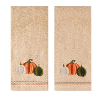 Saturday Knight Pumpkin Squash 2-pc. Embroidered Hand Towel