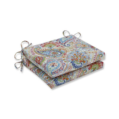 Pillow Perfect Set of 2 Gilford Festival Squared Corners Patio Seat Cushion