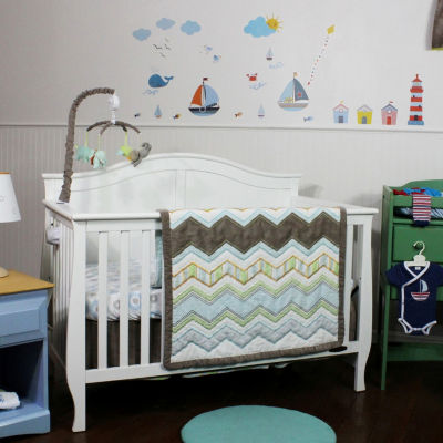 Nurture Zig & Zag Hand Quilted Baby Quilt