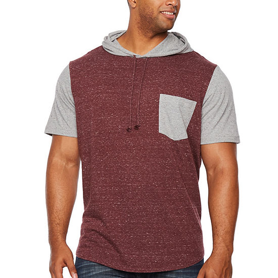 The Foundry Big & Tall Supply Co. Mens Short Sleeve Hooded Hoodie-Big and Tall