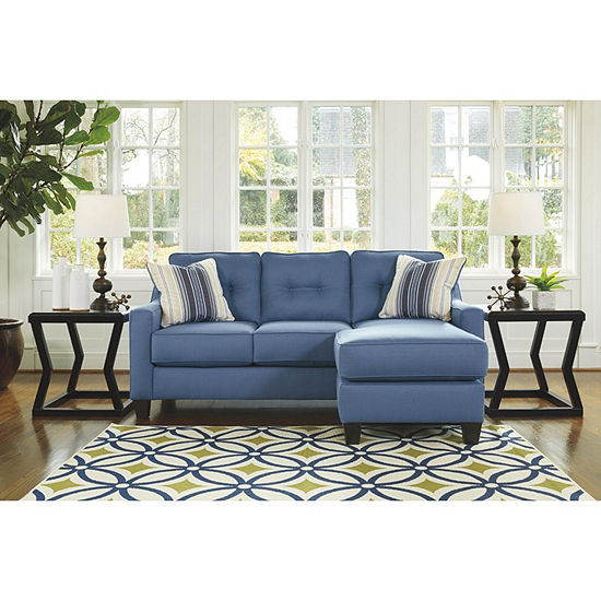 Sectional Sofas At Jcpenney: Signature Design By Ashley Aldie Nuvella Sofa Chaise JCPenney
