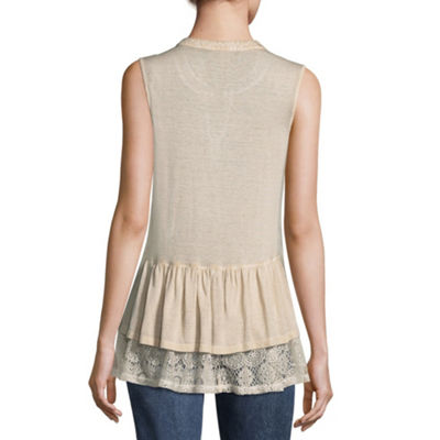 Artesia Sleeveless Scoop Neck Bohemian Blouse