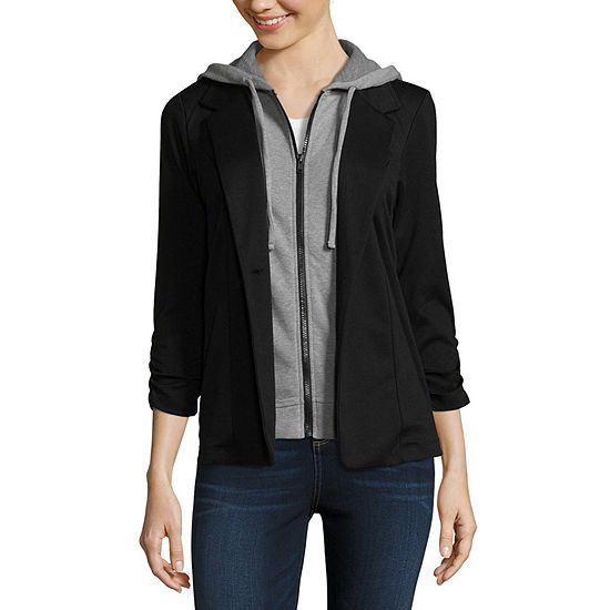 Almost Famous Womens 3/4 Sleeve Layered Top-Juniors