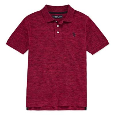 U.S. Polo Assn. Short Sleeve Pique Polo- Big Kid Boys