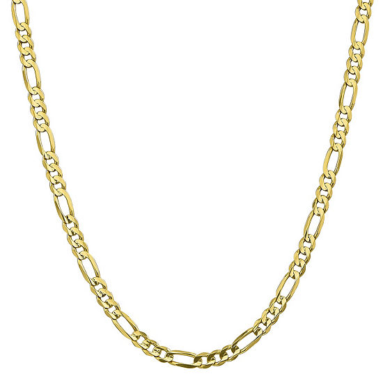 10K Gold 18 Inch Solid Figaro Chain Necklace