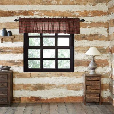 Rustic & Lodge Window Tartan Red Plaid Valance