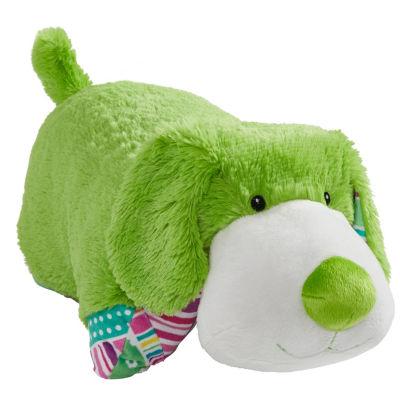"""Colorful Pup 18"""" Plush Pillow Pet"""