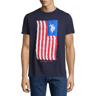U.S. Polo Assn. Mens Crew Neck Short Sleeve Graphic T-Shirt
