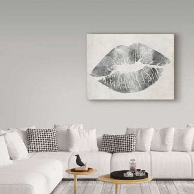 Trademark Fine Art Color Bakery Hollywood Kiss Silver Giclee Canvas Art