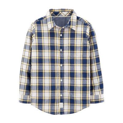 Carter's Boys Y Neck Long Sleeve Graphic T-Shirt Preschool / Big Kid