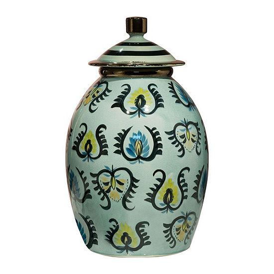 Paisley Temple Jar
