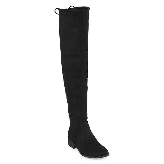Arizona Womens Palmer Over the Knee Block Heel Pull-on Boots