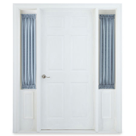 JCPenney Home Supreme Sheer Rod-Pocket Single Sidelight Curtain, One Size , Blue