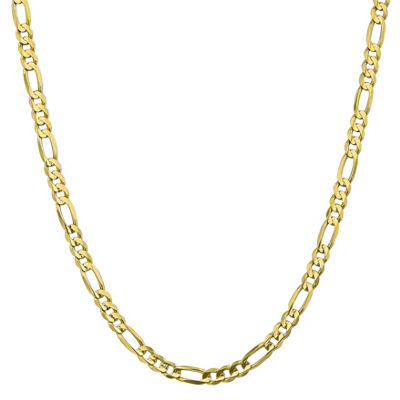 10K Gold Solid Figaro 18 Inch Chain Necklace