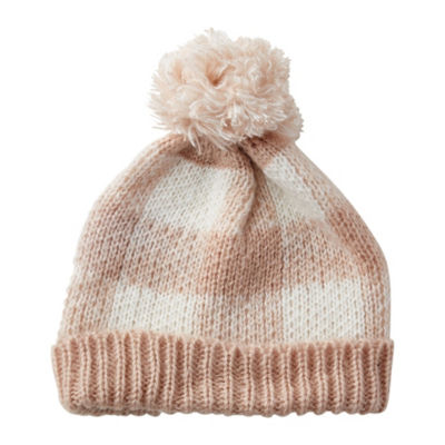Tickled Pink Plaid Beanie