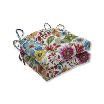 Pillow Perfect Set of 2 Gregoire Prima Reversible Patio Seat Cushions