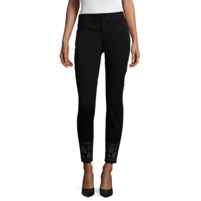 Liz Claiborne Embroidered Flexi Fit Skinny Jean