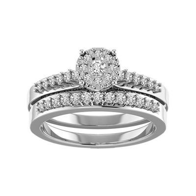 Womens 3/4 CT. T.W. White Diamond 14K Gold Bridal Set
