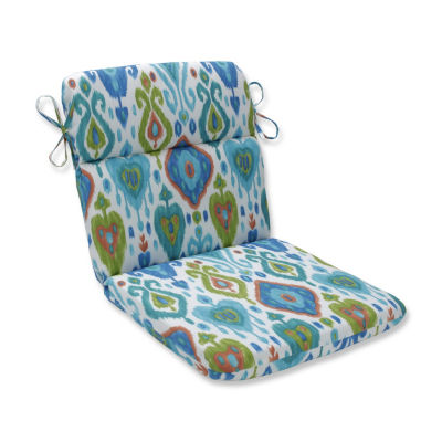 Pillow Perfect Paso Caribe Rounded Corners Patio Chair Cushion