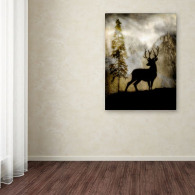 Trademark Fine Art LightBoxJournal Mystic Deer Giclee Canvas Art