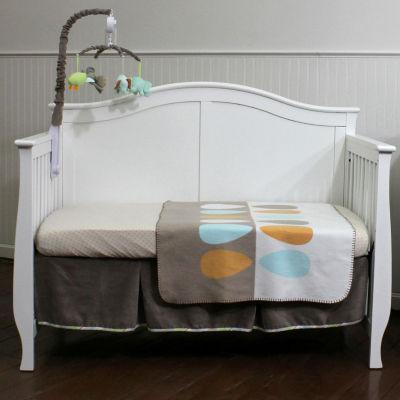 Nurture Basix Cocoa Leaf Organic 3 Piece Crib Bedding Set