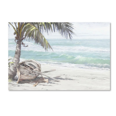 Trademark Fine Art The Macneil Studio Boat on Beach Giclee Canvas Art