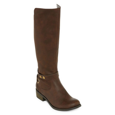 Arizona Womens Cuala Riding Flat Heel Zip Boots