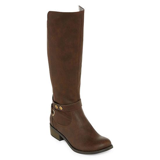 Arizona Womens Cuala Riding Flat Heel Zip Boots