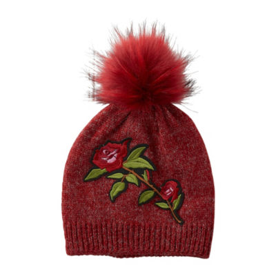 Tickled Pink Rose Beanie