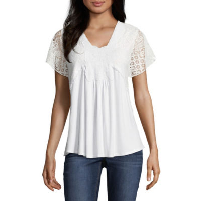 Artesia Short Sleeve V Neck T-Shirt-Womens